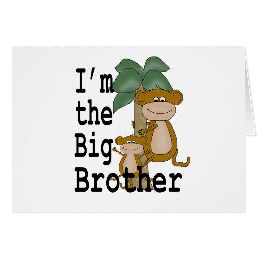 Monkeys Big Brother Greeting Card