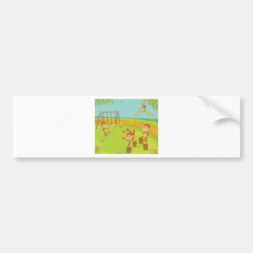 Monkeys Bumper Sticker