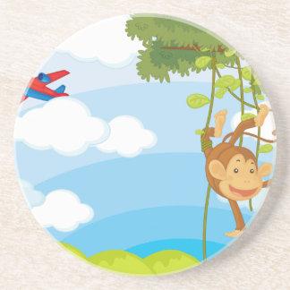 monkeys beverage coaster