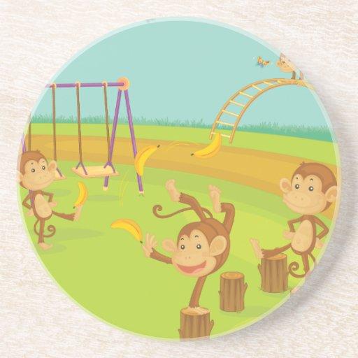 Monkeys Drink Coasters