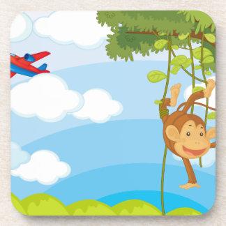 monkeys drink coaster