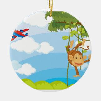 monkeys christmas tree ornament
