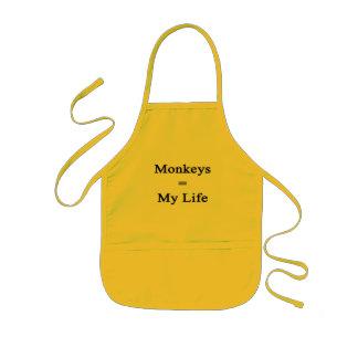 Monkeys Equal My Life Kids' Apron