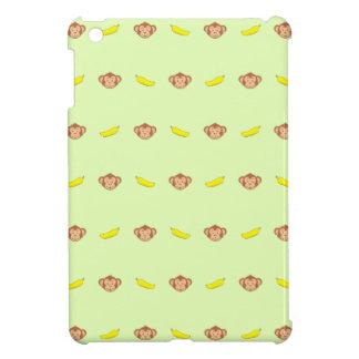 Monkey's face with banana's iPad mini cases