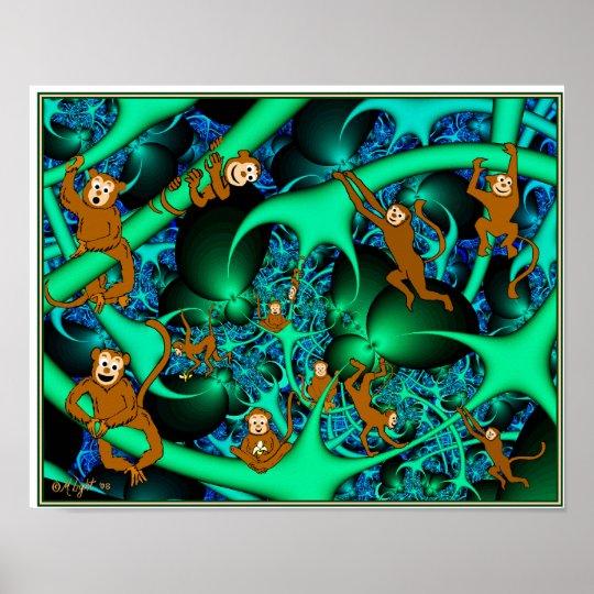 Monkeys in my Fractal Poster