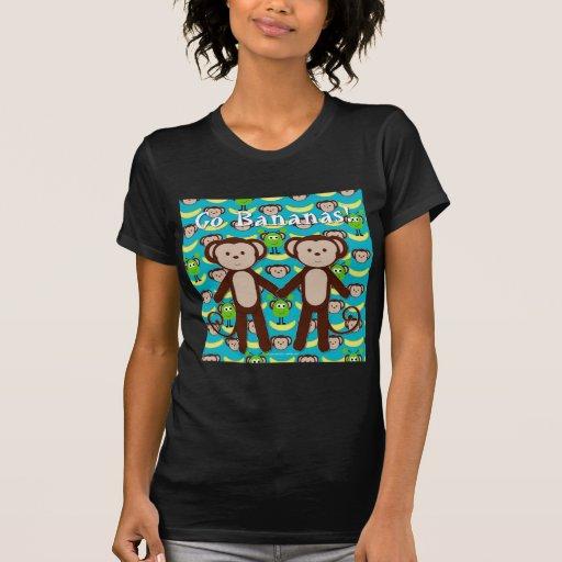 Monkeys in Space Go Bananas Shirts