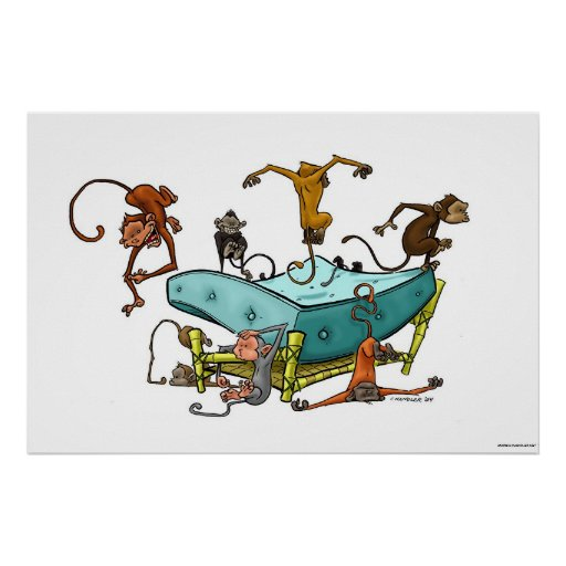 Monkeys Jumping on the Bed Print