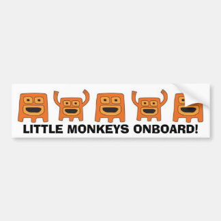 MONKEYS, LITTLE MONKEYS ONBOARD! BUMPER STICKER