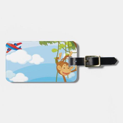 monkeys travel bag tag