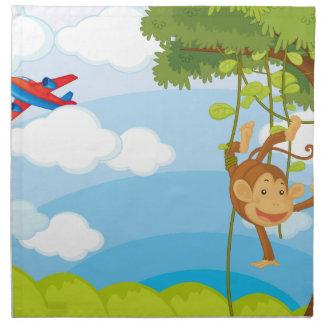 monkeys cloth napkin