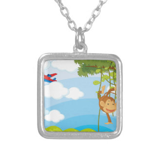 monkeys custom necklace