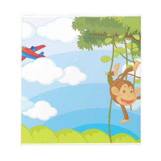 monkeys note pad