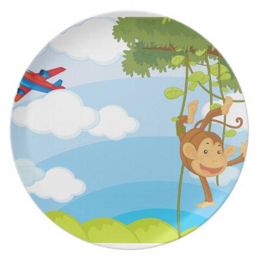 monkeys plate