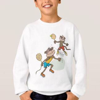 Monkeys Playing Tennis Sweatshirt