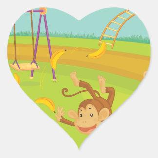 Monkeys Heart Sticker
