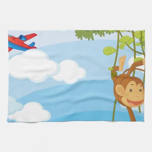 monkeys kitchen towels