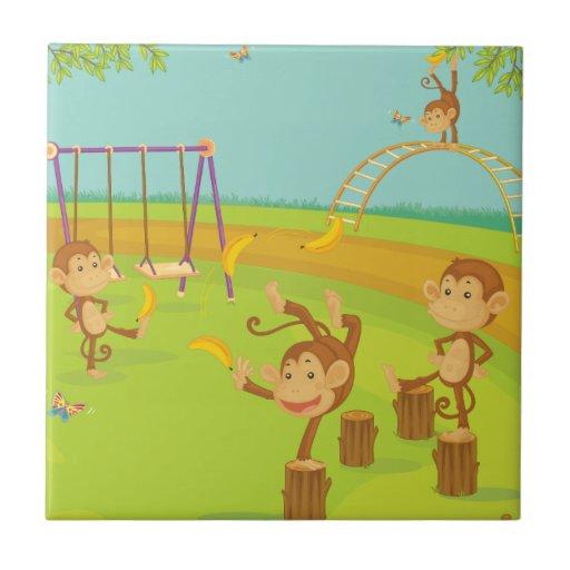 Monkeys Ceramic Tile