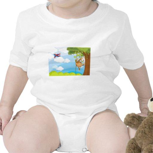 monkeys baby bodysuit