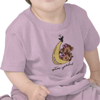 Monkeys Twin Girls T-shirts and Gifts