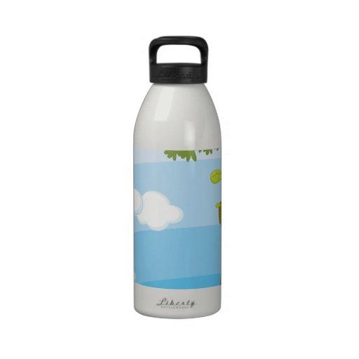 monkeys drinking bottle