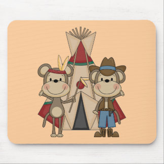Monkeys Wild West Tshirts and Gifts Mousepads