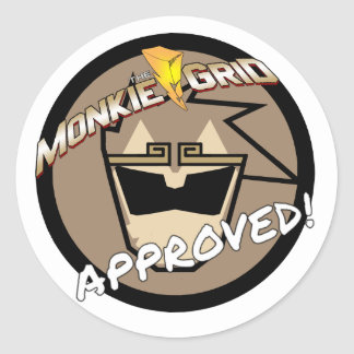 Monkie Grid Approved Simple Logo Sticker