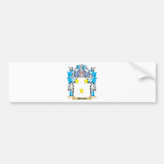 Monks Coat of Arms - Family Crest Bumper Stickers