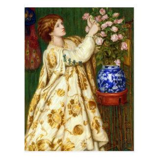 Monna Rosa by Dante Gabriel Rossetti Postcard