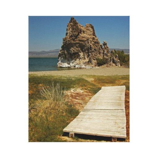Mono Lake Boardwalk Stretched Canvas Print