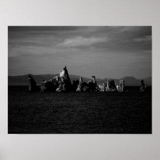 Mono Lake California - Black and White Poster