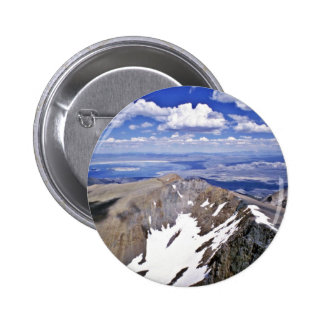 Mono Lake, Looking East From Summit Of Mt. Dana Pinback Buttons