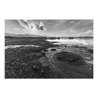 Mono Lake Reverie (Black & White) Photo Print