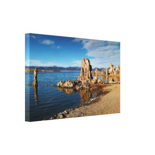 Mono Lake Scene Stretched Canvas Prints
