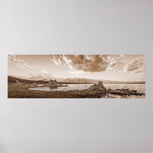 Mono Lake Sunburst Print