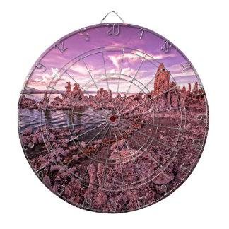 mono lake sunset dartboard