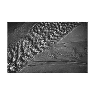 Mono photograph of water ripples stretched canvas print