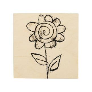 Mono print flower wood prints