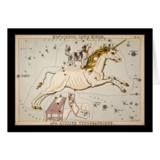 Monoceros Canis Minor and Atelier Typographique Greeting Card
