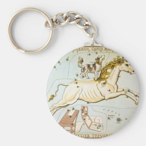 Monoceros, Canis Minor, and Atelier Typographique Keychain