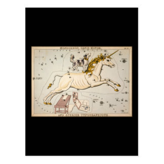 Monoceros Canis Minor and Atelier Typographique Postcard