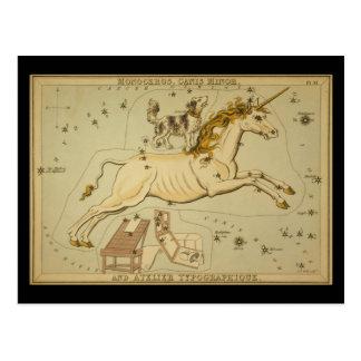 Monoceros, Canis Minor and Atelier Typographique Postcard
