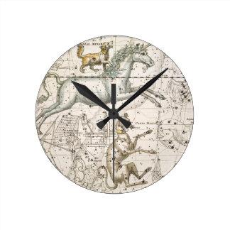 Monoceros, from 'A Celestial Atlas', pub. in 1822 Clocks
