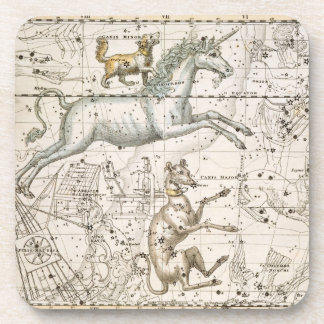 Monoceros, from 'A Celestial Atlas', pub. in 1822 Drink Coasters