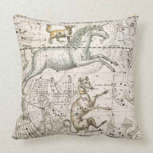 Monoceros, from 'A Celestial Atlas', pub. in 1822 Throw Pillow