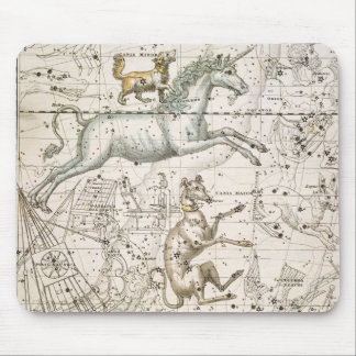 Monoceros, from 'A Celestial Atlas', pub. in 1822 Mouse Pad