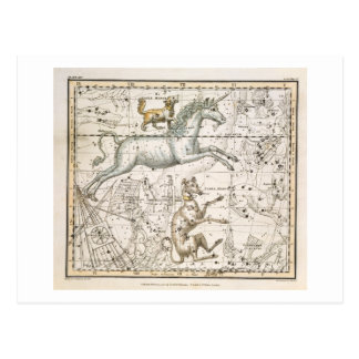 Monoceros, from 'A Celestial Atlas', pub. in 1822 Postcard