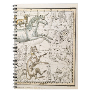 Monoceros, from 'A Celestial Atlas', pub. in 1822 Spiral Notebook