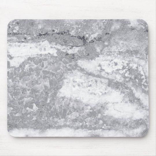 Monochrom White Gray Marble Stone Glam Carrara Mouse