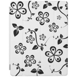 Monochromatic Flowers iPad Cover