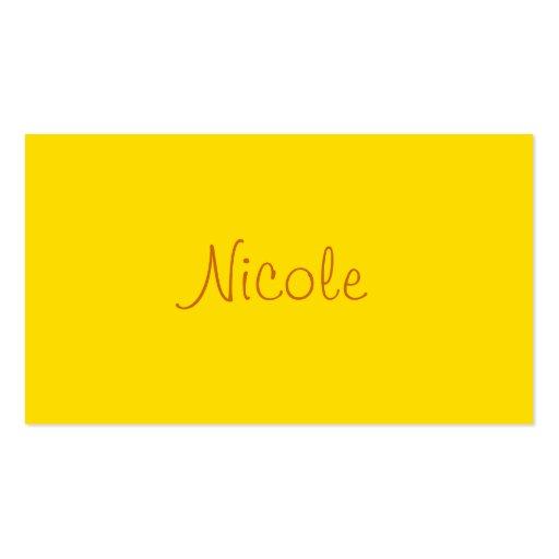 Monochromatic in Buttery Popcorn Business Card